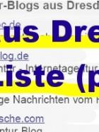 Dresdens Blogosphäre: noch stark ausbaufähig