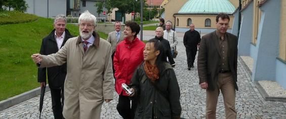Rundgang im Klärwerk mit Johannes Pohl (li.) u. Torsten Fiedler (r.)