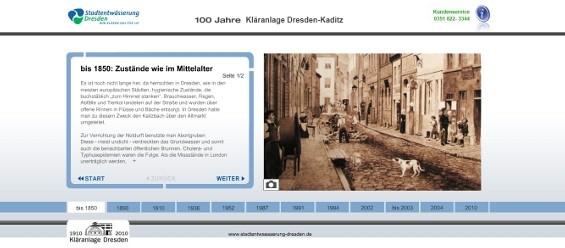 Besuchen Sie auch die virtuelle Zeitreise der Stadtentwässerung Kaditz