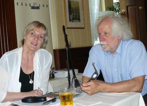 Bettina Klemm und Gottfried Schaaf im Gespräch.